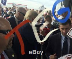 Atout Signé Make Donald America Grand Nouveau Hat Autograph 45ème Président Des Etats-unis