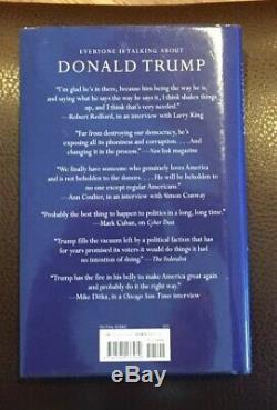 Autographe Signé Par Donald Trump, Infirme En Amérique, Avec Un Ex-libris Numéroté Coa