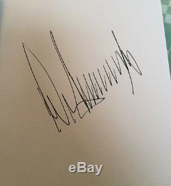 Autographe Très Rare Signé De Pen Pen, Président Donald Trump Comment Obtenir Riche Biographie