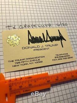 Autographed Donald J. Trump Vintage Signé Rare Carte De Visite Inverse Japonais