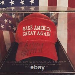 Autographié Donald Trump, Maga, Président Trump, Authentic 2016