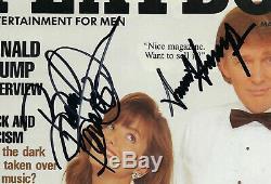 Avec Coa Atout & Brandi Donald Bradnt Signés Playboy Mars 1990 Très Bon État