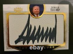 Carte Autographe Trump Signature Coupée Or 2016 Décision Président Carte Rookie
