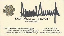Carte De Visite D'écriture Chinoise Rare Signée Par Donald Trump Autographie Avec Withcoa