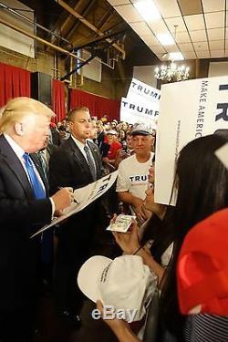 Chapeau Officiel Signé Par Donald Trump Psa / Dna Fabriqué Aux Etats-unis: Une Amérique De Nouveau Formidable