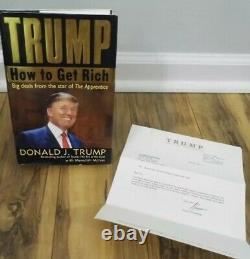 Comment Devenir Riche Donald Trump Président Des États-unis Signé Première Édition Autographié Jim