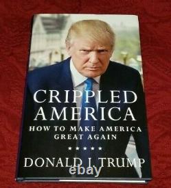 Crippled America Signé Par Le Président Donald Trump Avec Coa Sealed Autographié 2020