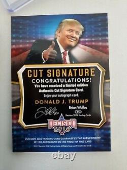 Décision 2016 Donald Trump Cut Signature Autographe Signé Auto