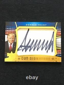 Décision 2016 Donald Trump Cut Signature Autographe (red Tie)