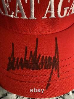 Dédicacée Maga Hat (donald J Trump Autograph) Make America Great Encore Une Fois