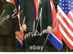 Dédicacée Président Donald Trump & Kim Jong-un 8x10 Double Photo Dédicacée