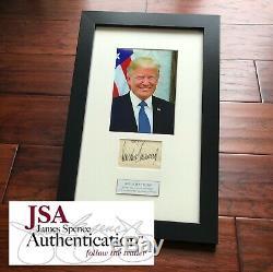 Donald J Atout Jsa Loa Signature Pleine Autographe Président Papier