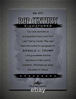 Donald J. Trump 2012 Leaf Pop Century Signatures Authentic Auto The Next Potus