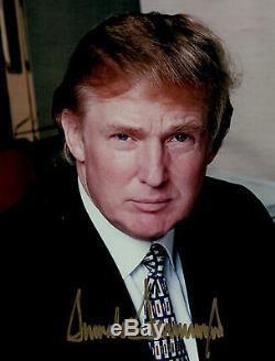 Donald J Trump 45ème Président Signe Autographed Photo Photo Authentique