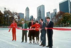 Donald J. Trump Autographié / Lettre Signée Nyc Wollman Ice Rink 1986 Jsa/loa