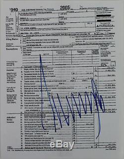 Donald J. Trump Photo Authentifiée Et Signée - Déclaration De Taxe 8.5x11 - Bas Autographiée # A57043