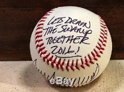 Donald J Trump Pres Autographed Baseball 2016 Coa Inperson-authentification 991100