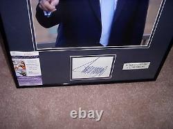 Donald J Trump Signé Encadré Matted Color Photo Jsa Authentic Great Price