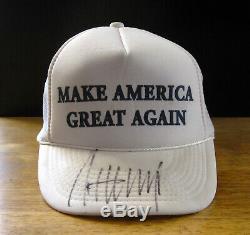 Donald J. Trump Signé Make America Great Encore Une Fois Maga Hat, Jsa Certified # Z91094