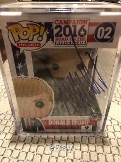 Donald Trump # 02 De Voter Funko Pop Signé Par Le Président Atout Rare Donald