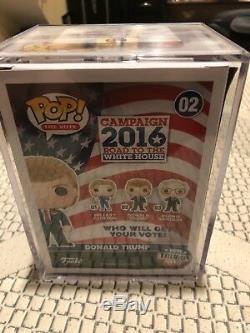 Donald Trump # 02 Du Vote Funko Pop Signé Par Le Président Atout Rare Donald