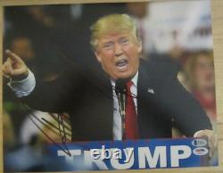 Donald Trump 11x14 Signé Autographe Dual Authentifié Beckett Psa/dna Photo