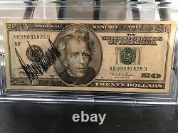 Donald Trump $20 Bill Autographié Signé Twenty (currency) Jsa Certifié