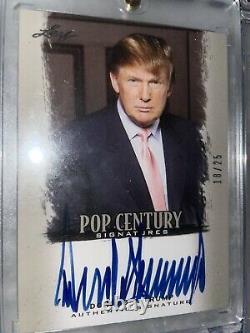 Donald Trump 2012 Leaf Pop Century Signatures 18/25 Mint