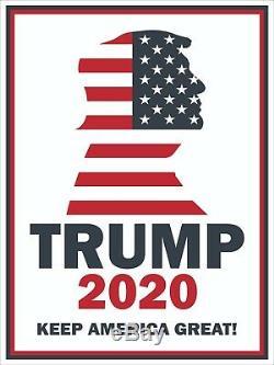 Donald Trump 2020 Keep America Great, Panneaux De Signalisation De 12 Mètres Sur 16, Avec Retrait Du Côté (24 Pièces)