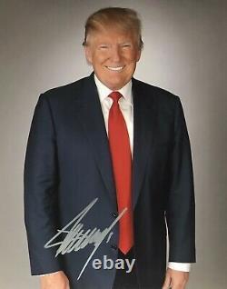 Donald Trump 45e Président Autographe Original Signé À La Main 8x10 Avec Coa