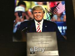 Donald Trump, 45e Président, Dédicacé 8x10 Main Photo Dédicacée Authentique Coa