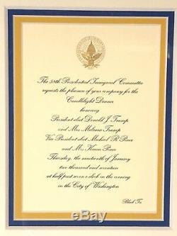 Donald Trump 45ème Inauguration Présidentielle Commémoratif Encadré Ensemble Signé