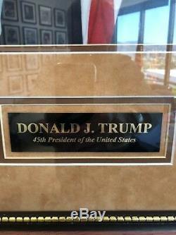 Donald Trump 45ème Prés. Musée Photo Autographié Signé USA Encadré. Magnifique