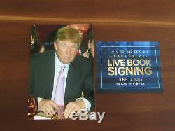 Donald Trump 45ème Président Autosigné The Art Of The Book Deal With Flag Gem