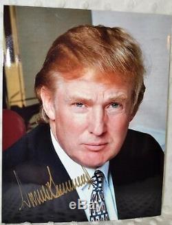 Donald Trump 45ème Président Signé 8x10 Photo Couleur