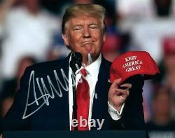 Donald Trump 8x10 Dédicacé Signé 8x10 Photo Photo Et Coa