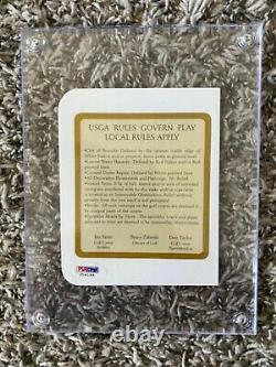 Donald Trump A Autographié Trump Golf Club Scorecard Avec Inscription Psa/adn