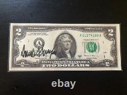 Donald Trump A Signé $2 Bill Rare Auto