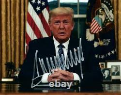 Donald Trump A Signé 8x10 Photo Autographiée Photo Avec Coa