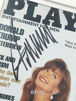 Donald Trump A Signé 90 Joyboy Magazine Photograph Jsa Authentic! Rayons! Framed