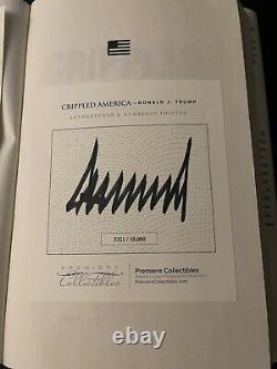 Donald Trump A Signé Autographe Crippled America Book President With Coa #3321