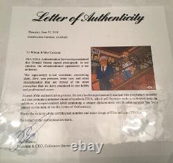 Donald Trump A Signé Autographié 11x14 Rare Simpsons Photo Psa 45e Président