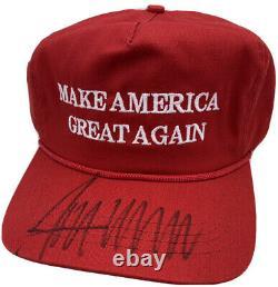 Donald Trump A Signé Autographié Rendre L'amérique Grande À Nouveau Président De Chapeau Jsa