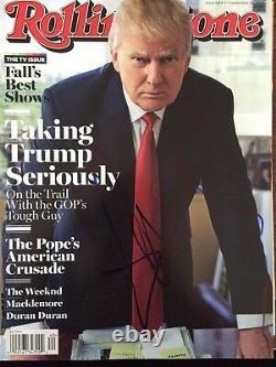 Donald Trump A Signé Autographié Rolling Stone Magazine En Person