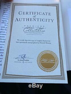 Donald Trump A Signé Avec L'aco, Amérique Du Crippled, Autograph Authentique