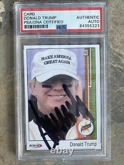 Donald Trump A Signé La Carte De Baseball Psa Adn Encapsulé Potus