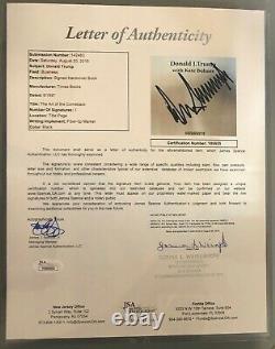 Donald Trump A Signé Le Livre De La 1ère Édition L'art Du Comeback Bold Autograph Jsa