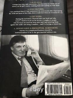 Donald Trump A Signé Le Livre Jsa Coa + Exact Proof! Le Président Trump Bel Autographe