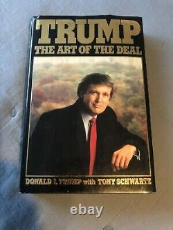 Donald Trump A Signé Le Livre The Art Of The Deal Official 1987 First Edition