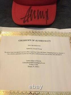 Donald Trump A Signé Maga Hat Wcoa